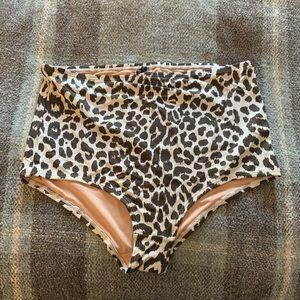 Jcrew Large Leopard Bikini Bottom
